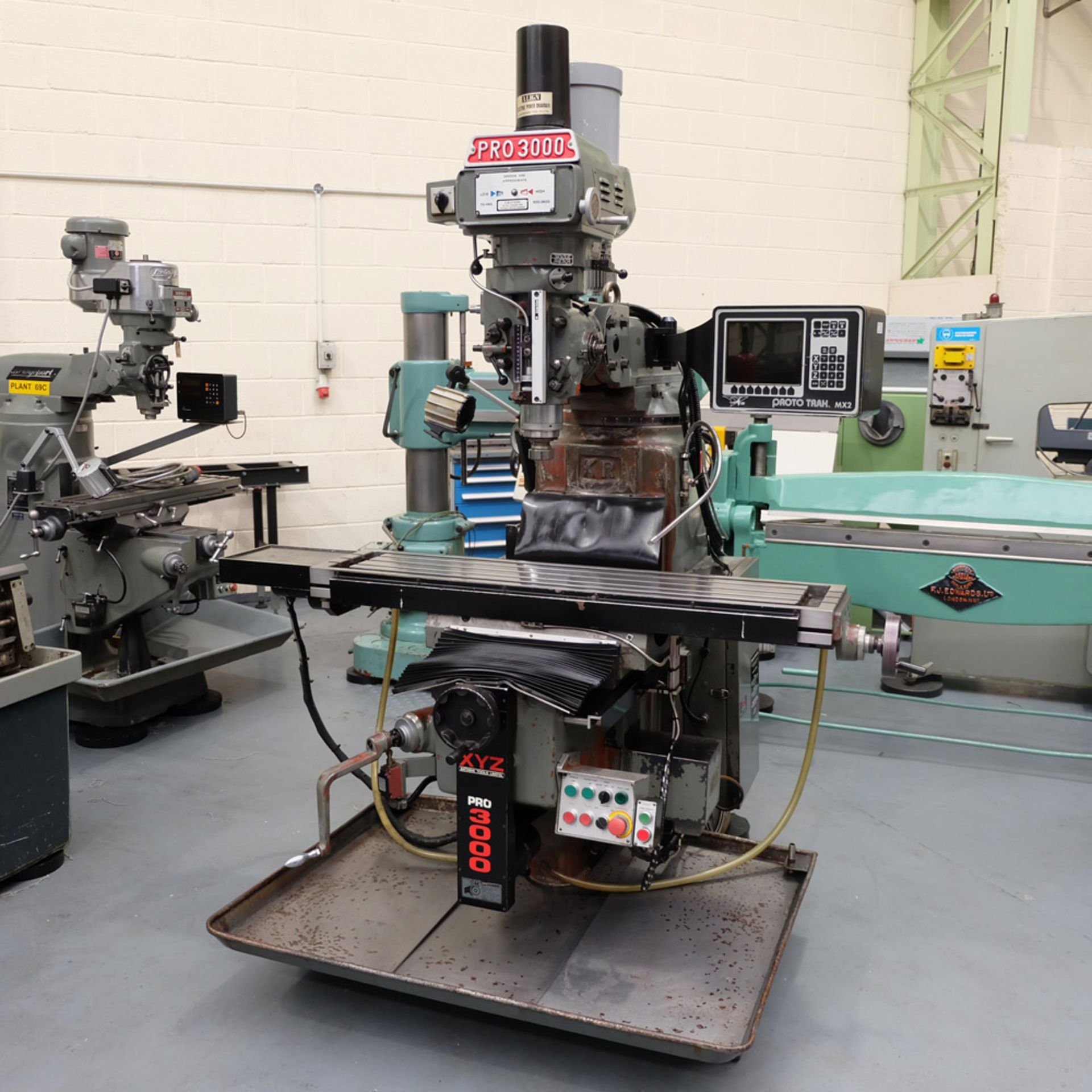 XYZ PRO 3000 Two Axis CNC Milling Machine.ProtoTrak MX2 Two Axis Programmable Control.