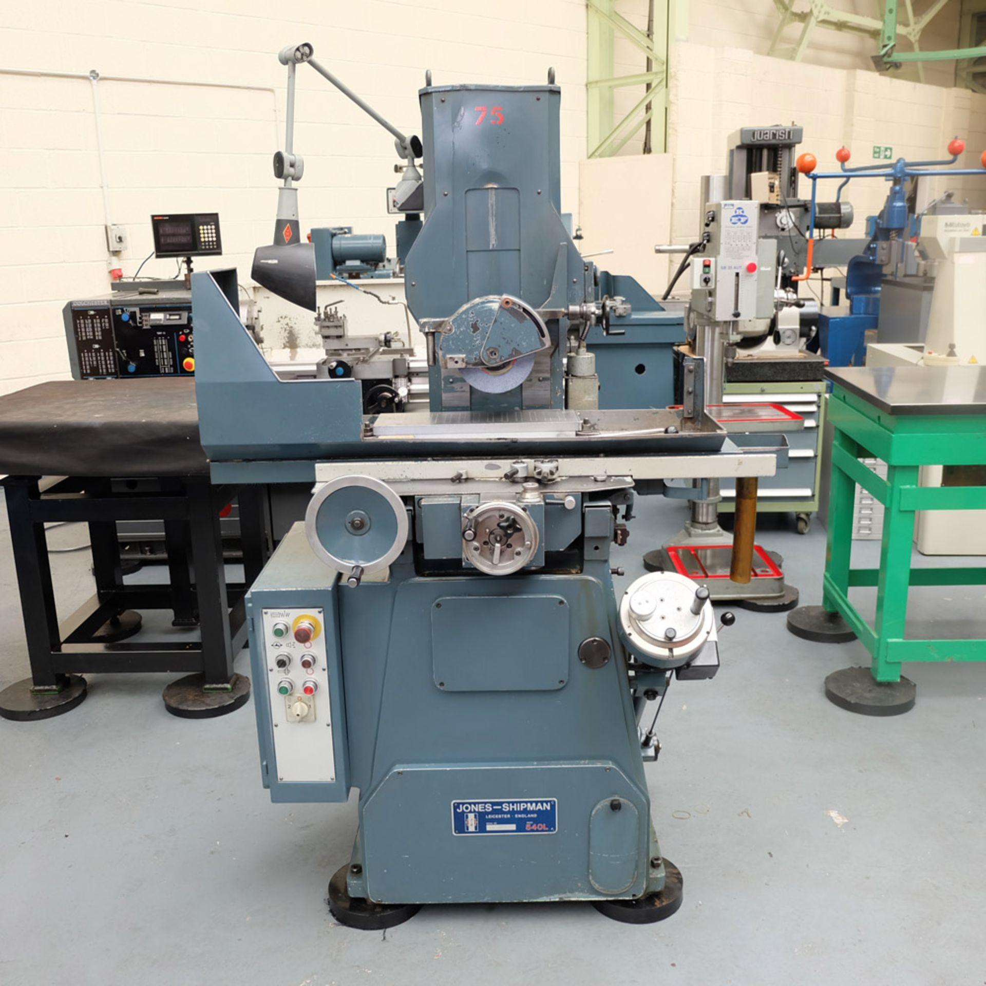"Jones & Shipman 540L Tool Room Surface Grinder. Capacity 18"" x 6""."