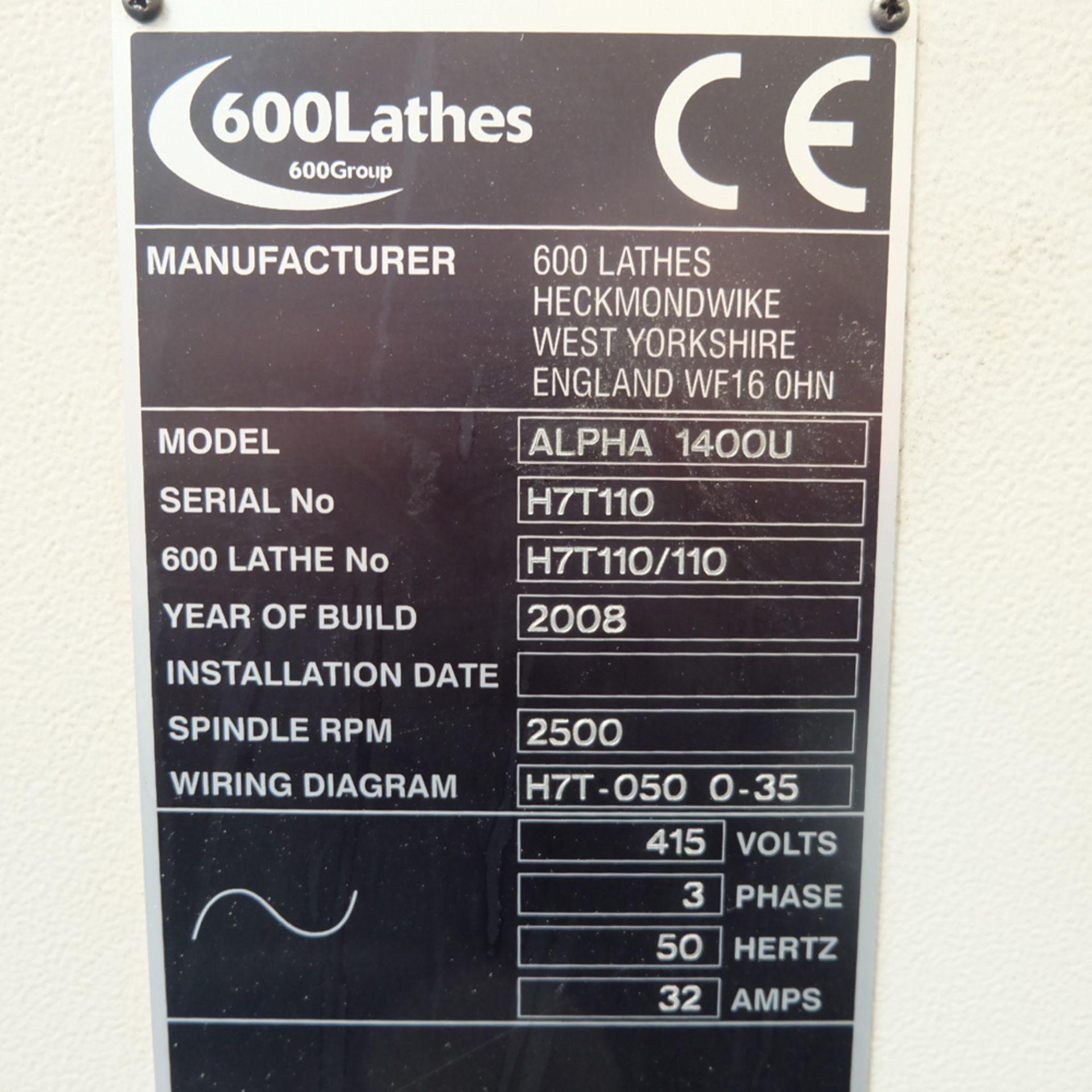 Harrison Alpha 1000 Series Model 1400U CNC Lathe. - Image 12 of 12