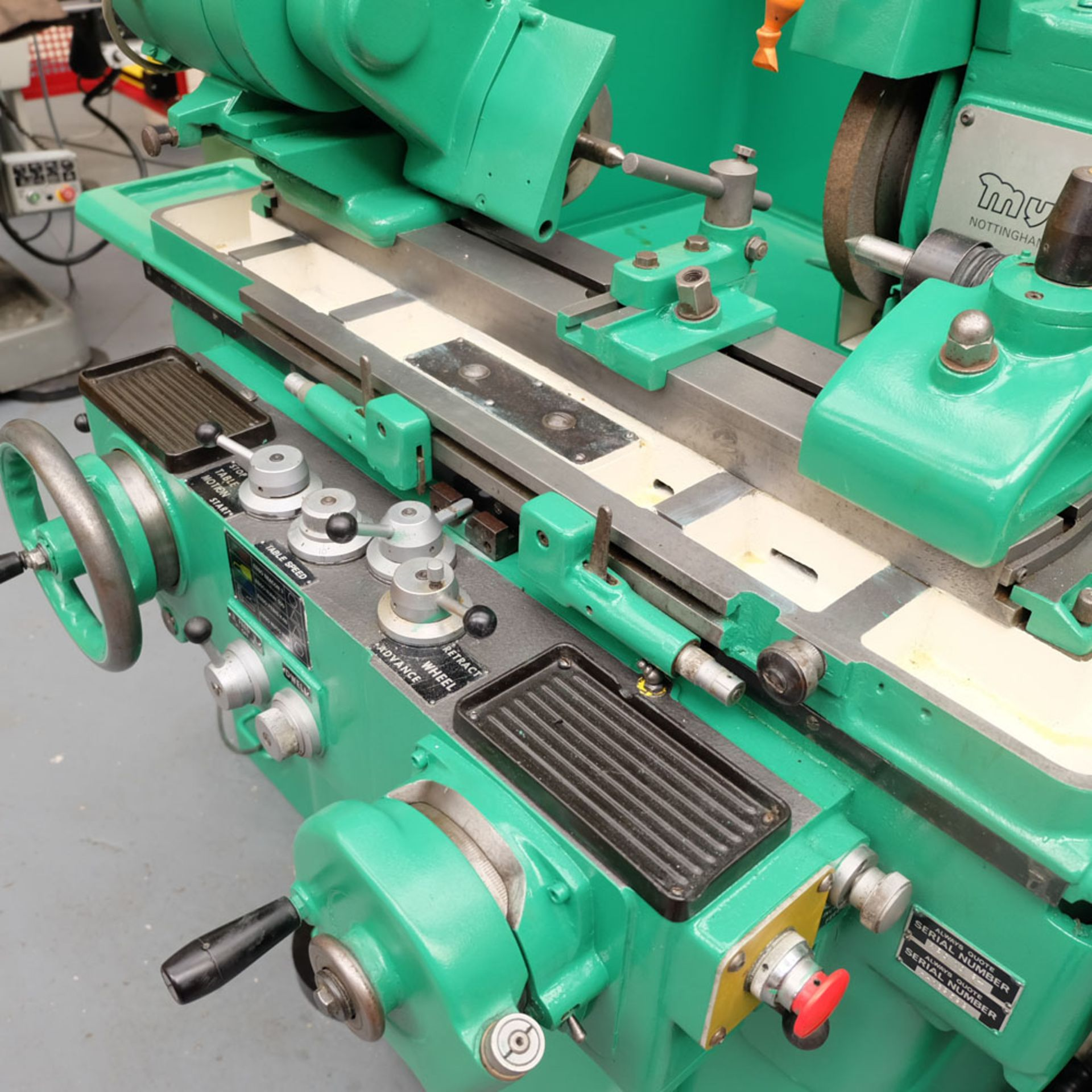"Myford MG12-HA Hydraulic Cylindrical Grinder. Maximum Grinding Capacity 3"" Diameter. - Image 3 of 13"
