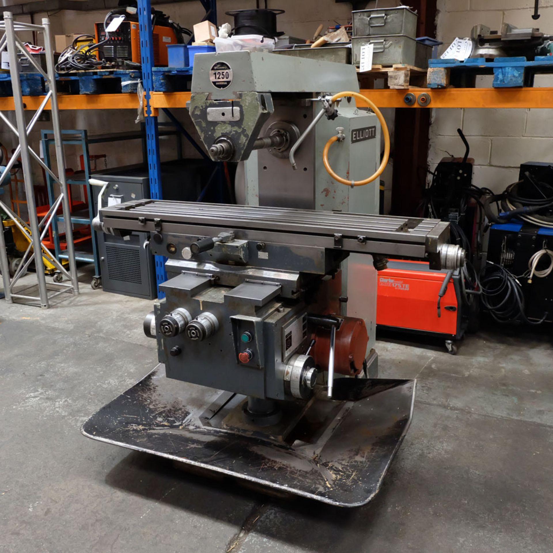 Elliott Horizontal Milling Machine.