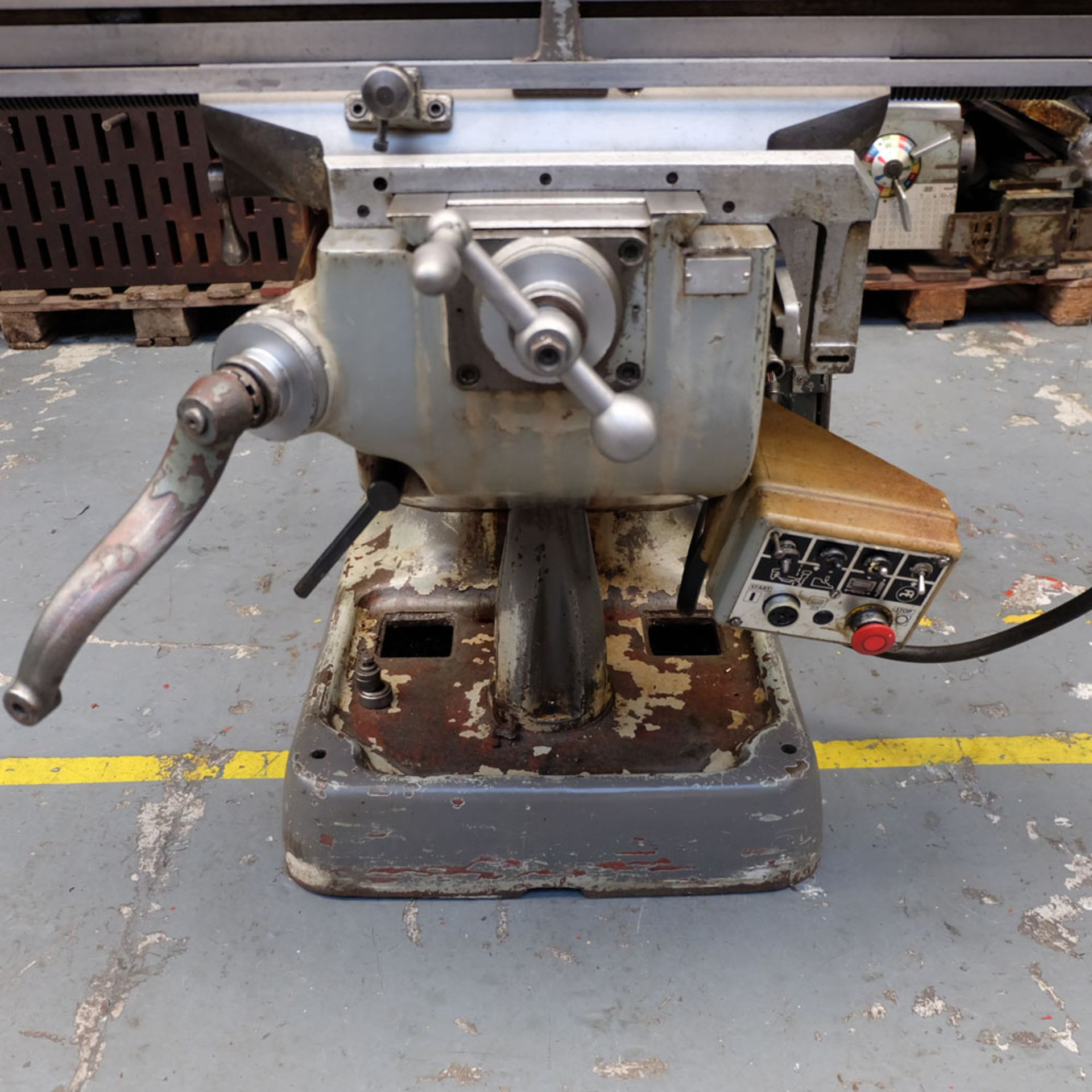 """Bridgeport 2HP Vari-Speed Head Turret Mill. Table Size 42"""" x 9"""". Spindle Taper R8. - Image 7 of 13"""