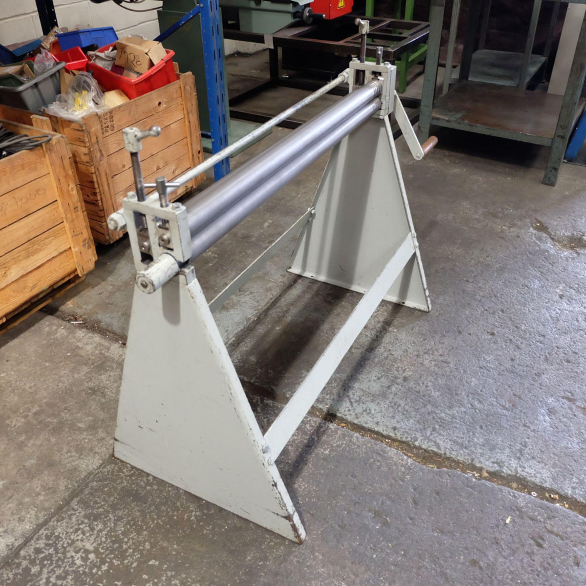 Morgan Rushworth Manual Pyramid Rolls. Capacity 1.22mm x 1025mm. - Image 3 of 6