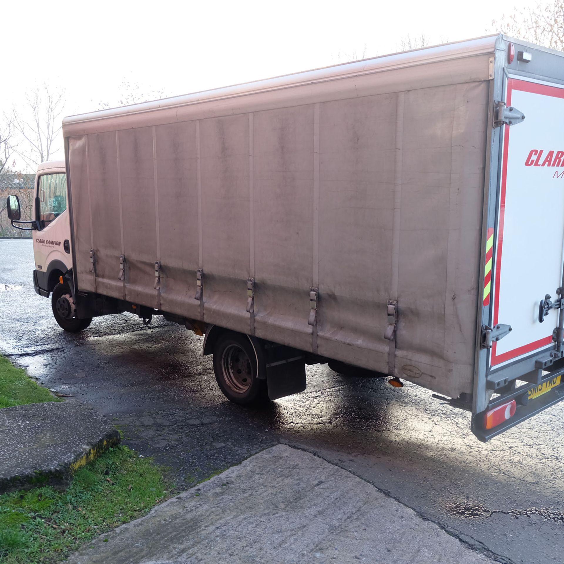 NISSAN CABSTAR 35.14 Rigid Bodied Curtain Truck. 3500KG Gross Weight. Sat Nav, Reversing Camera. - Image 6 of 14