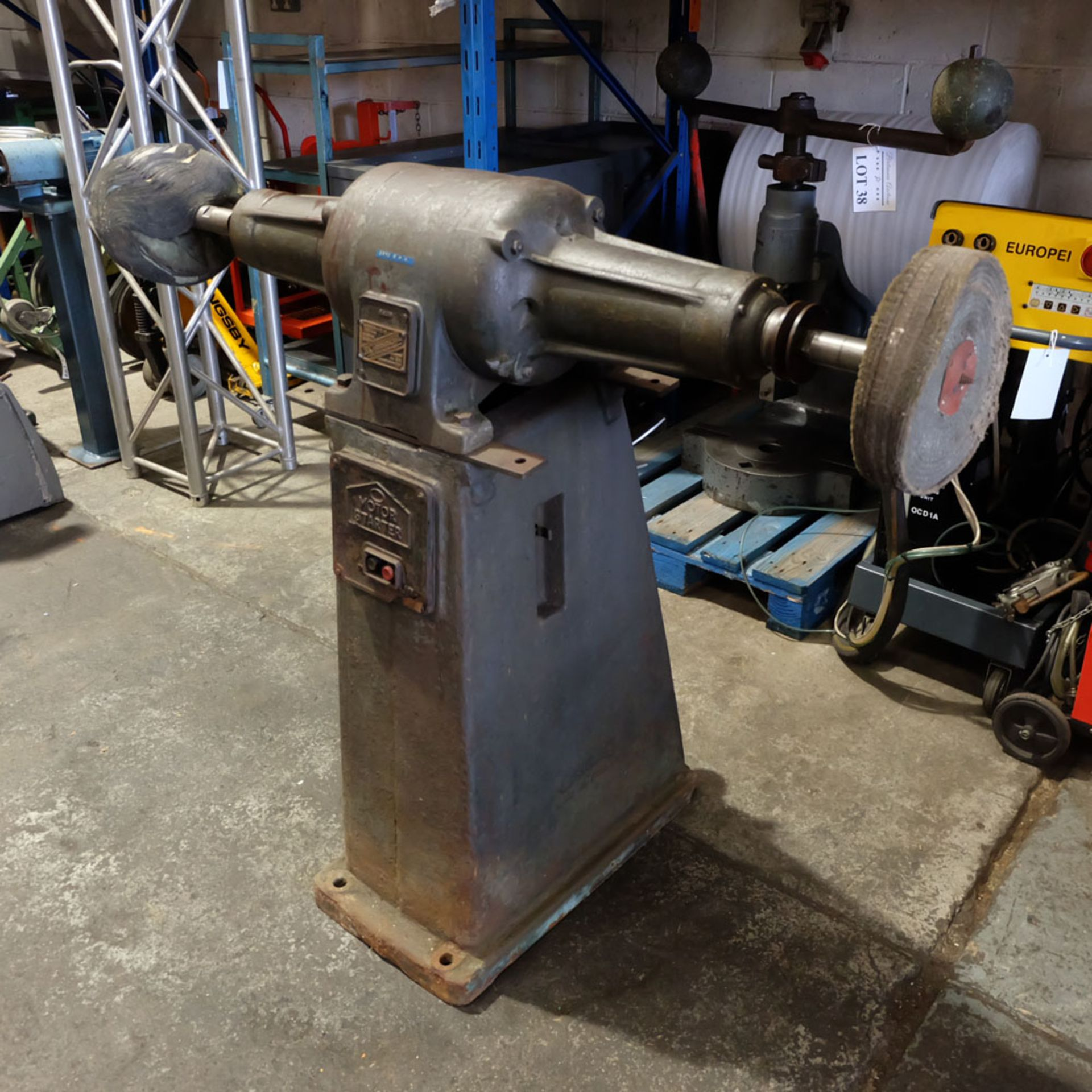 Canning Type 16/12 Double Ended Pedestal Polishing Machine. 2870rpm. - Image 3 of 6