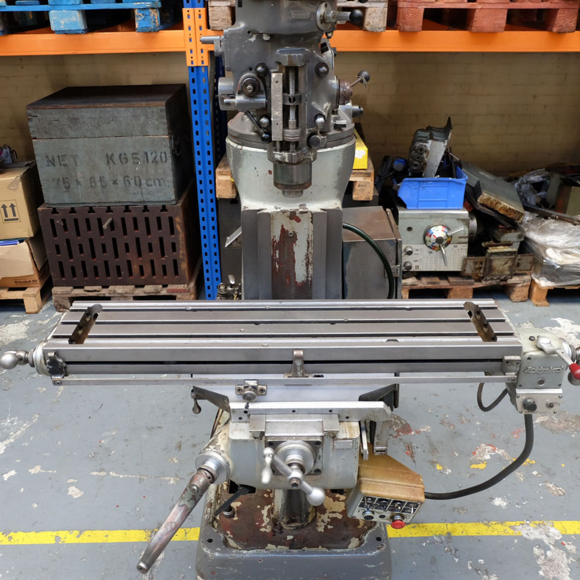 """Bridgeport 2HP Vari-Speed Head Turret Mill. Table Size 42"""" x 9"""". Spindle Taper R8. - Image 4 of 13"""