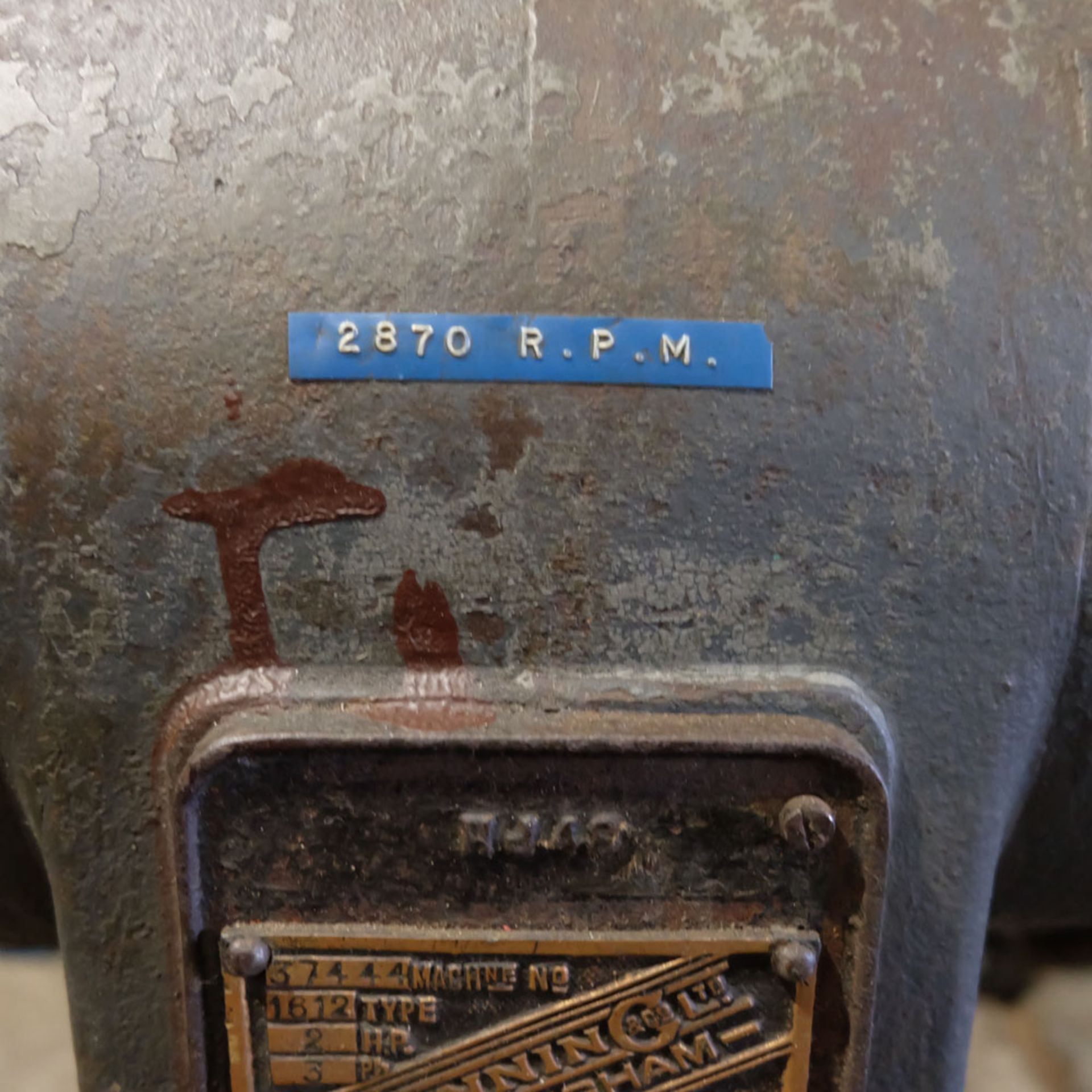 Canning Type 16/12 Double Ended Pedestal Polishing Machine. 2870rpm. - Image 5 of 6