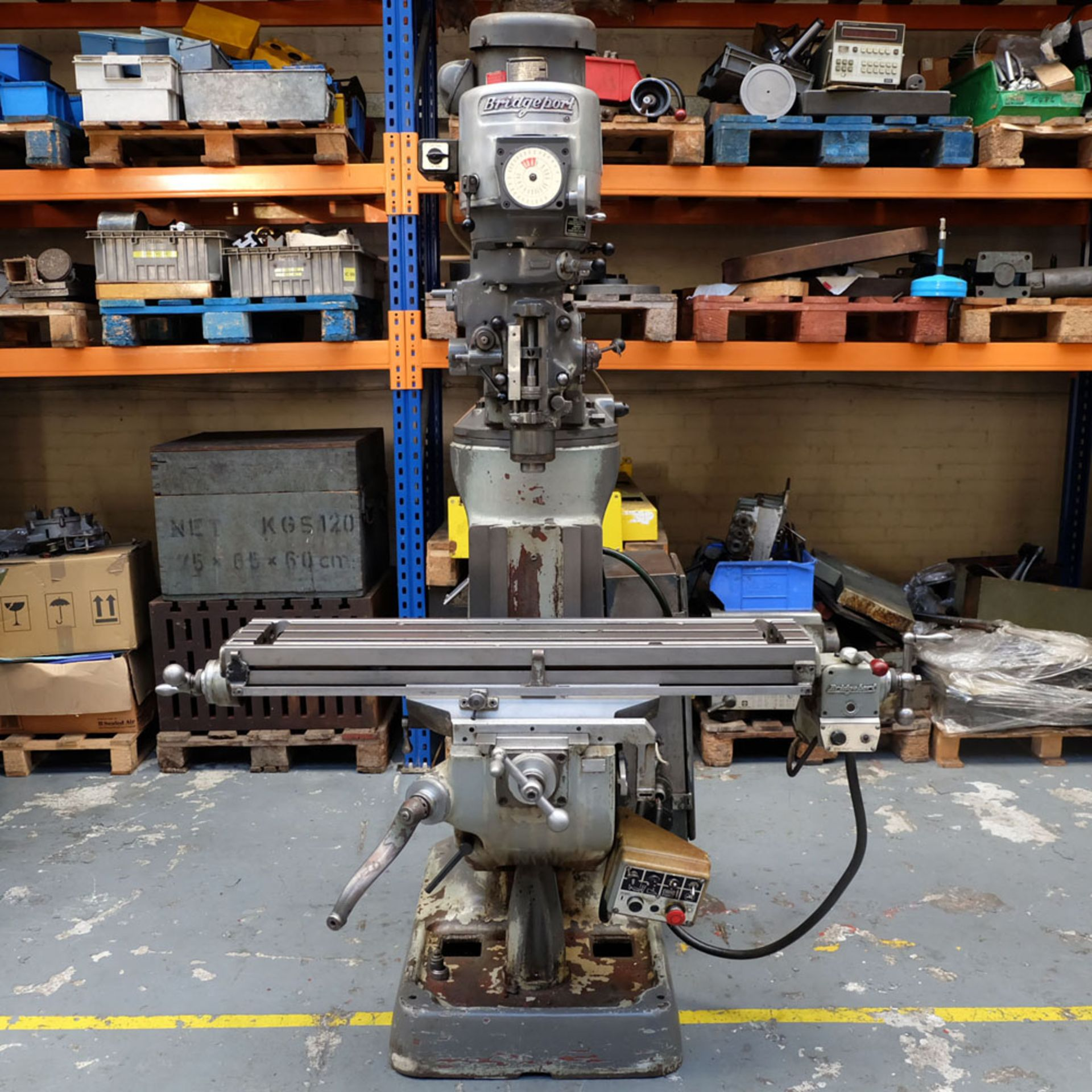 """Bridgeport 2HP Vari-Speed Head Turret Mill. Table Size 42"""" x 9"""". Spindle Taper R8. - Image 2 of 13"""