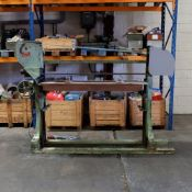 """Schubert Type BSKL Belt Sanding Machine. Table Size Approx 62"""" x 24"""". Belt Width Approx 6""""."""