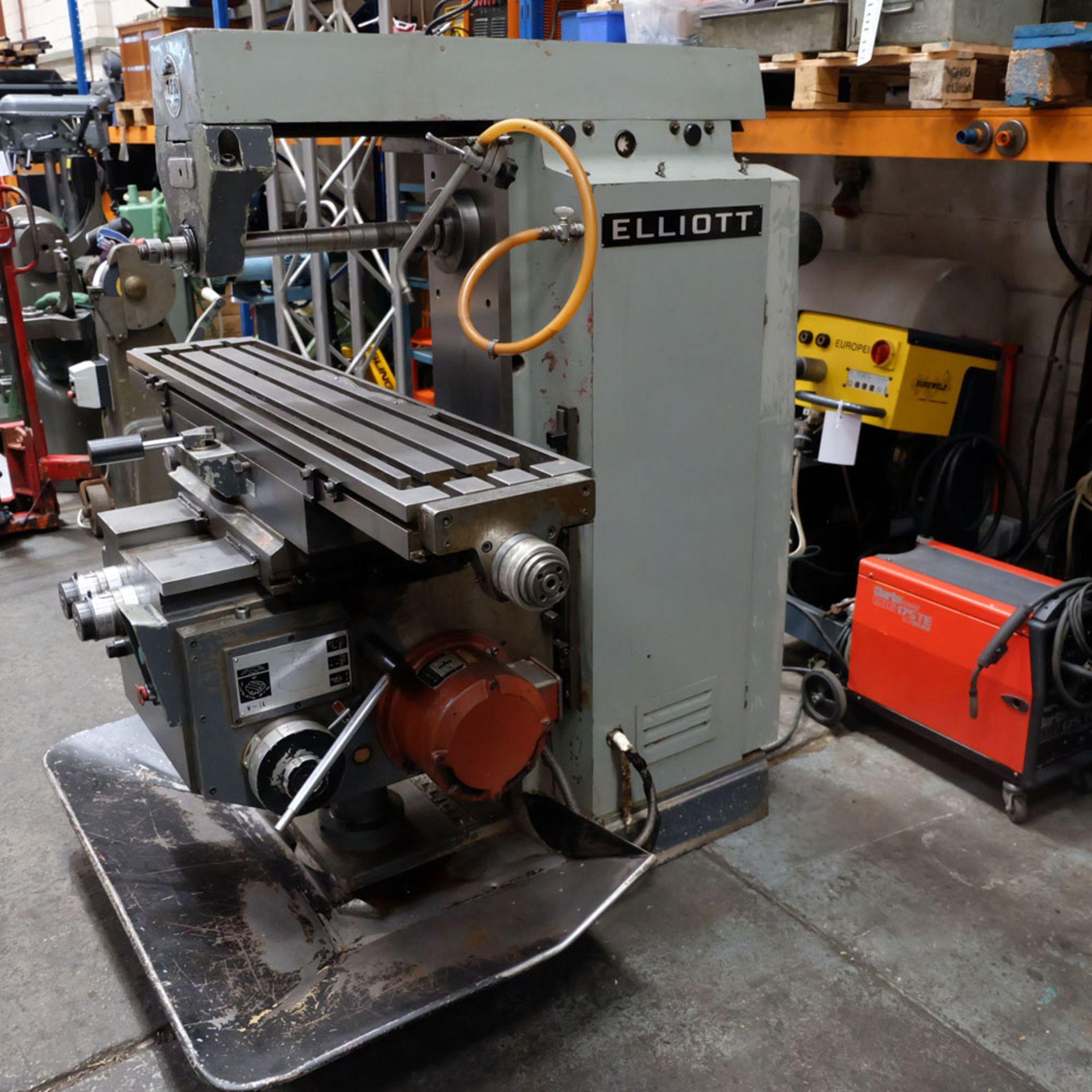 Elliott Horizontal Milling Machine. - Image 11 of 12