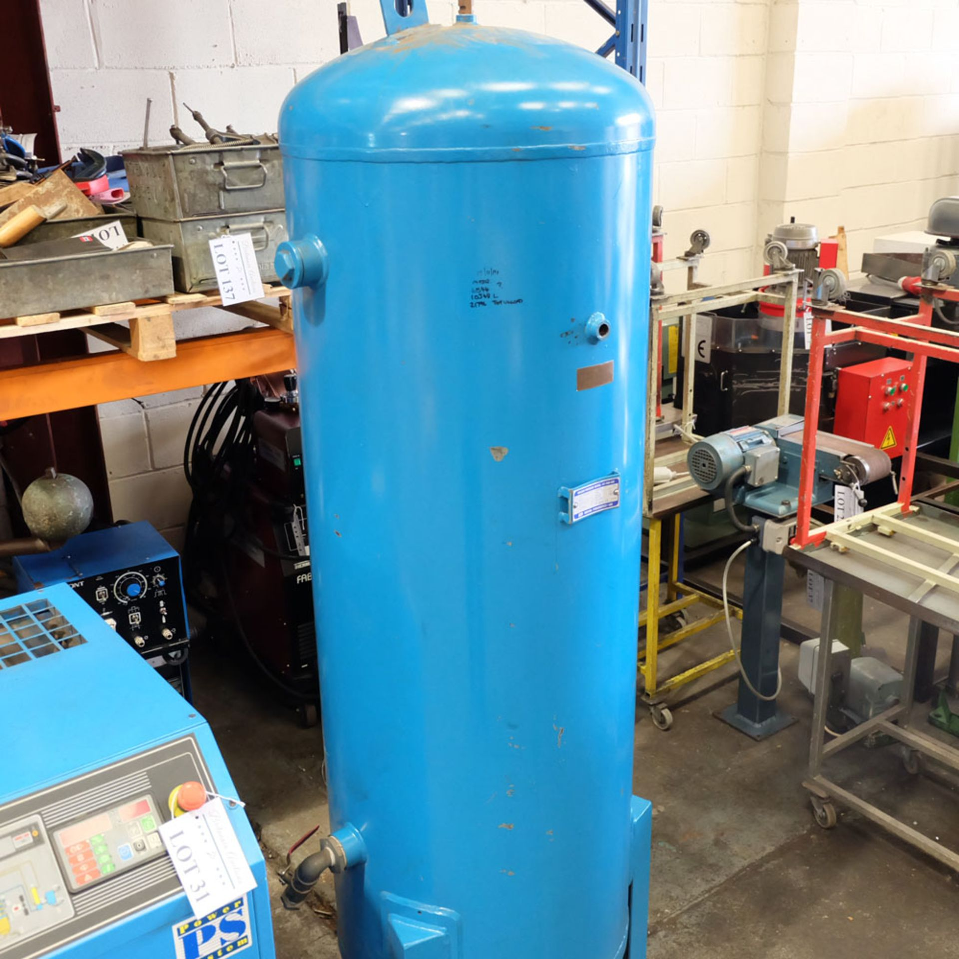 Power Systems PS15P - Rotary Air Compressor with 500L Receiver. Pressure 8 Bar. Capacity 80 cfm. - Image 6 of 8