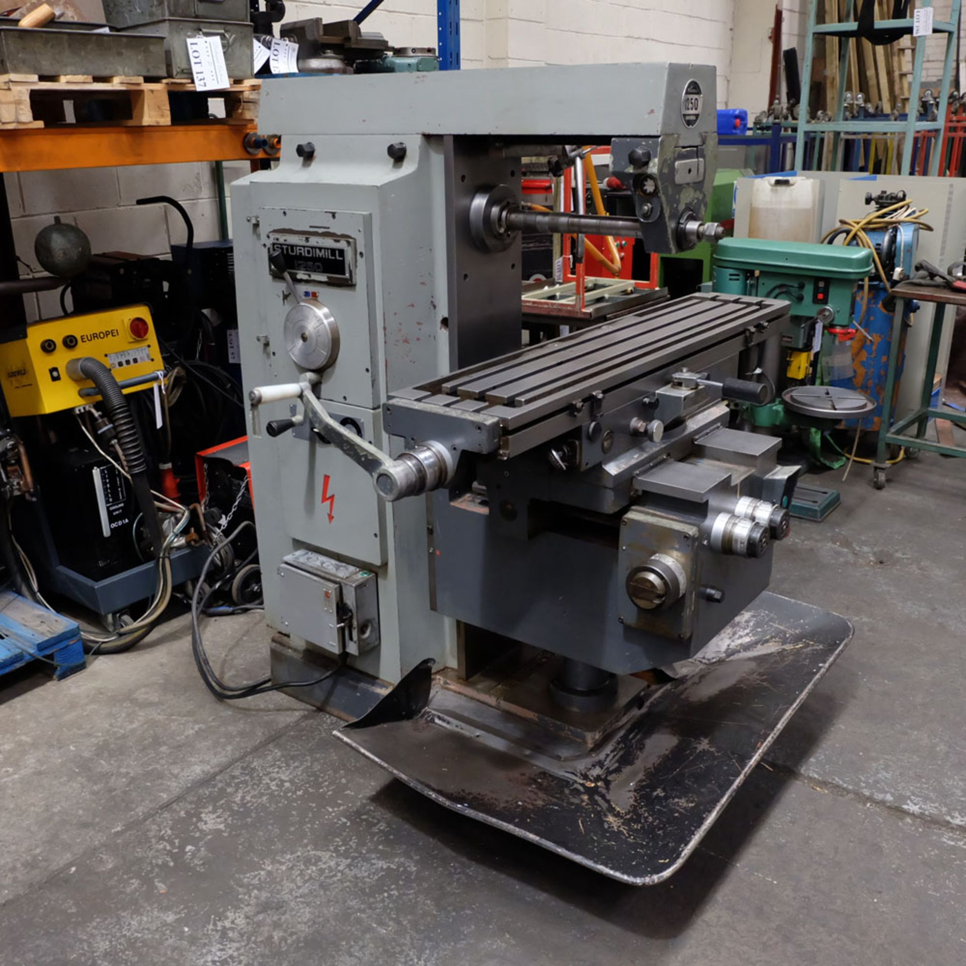 Elliott Horizontal Milling Machine. - Image 10 of 12