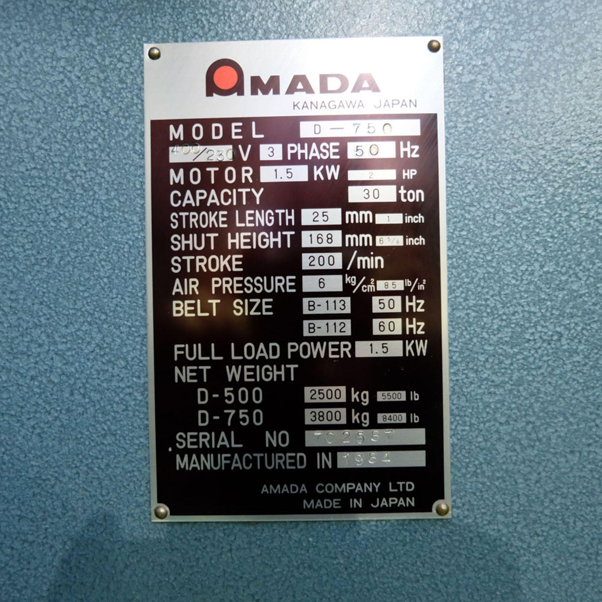 Amada D-750 Duplicator Punching Machine. - Image 13 of 18