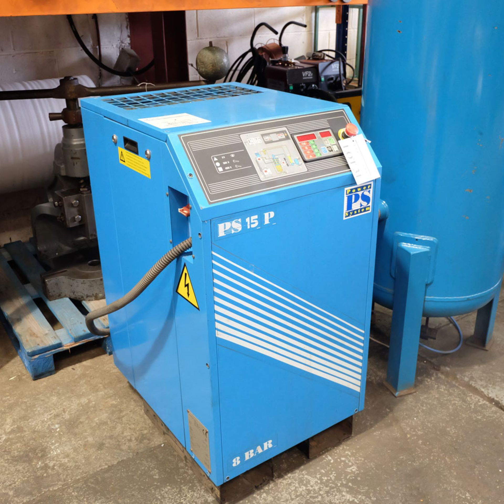 Power Systems PS15P - Rotary Air Compressor with 500L Receiver. Pressure 8 Bar. Capacity 80 cfm. - Image 2 of 8