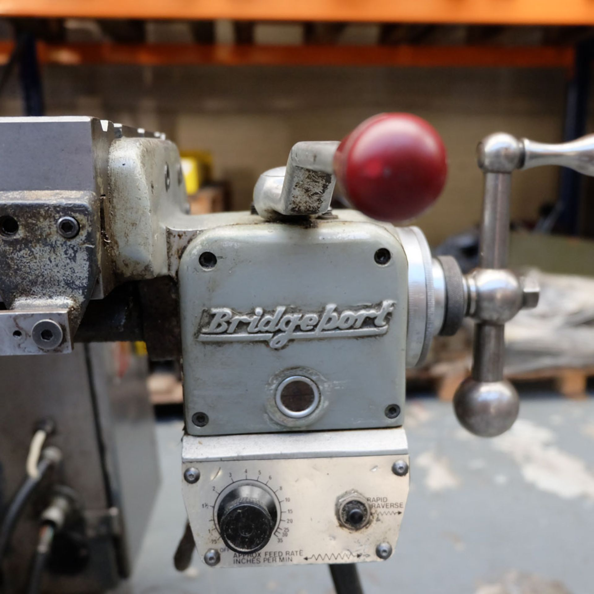"""Bridgeport 2HP Vari-Speed Head Turret Mill. Table Size 42"""" x 9"""". Spindle Taper R8. - Image 9 of 13"""