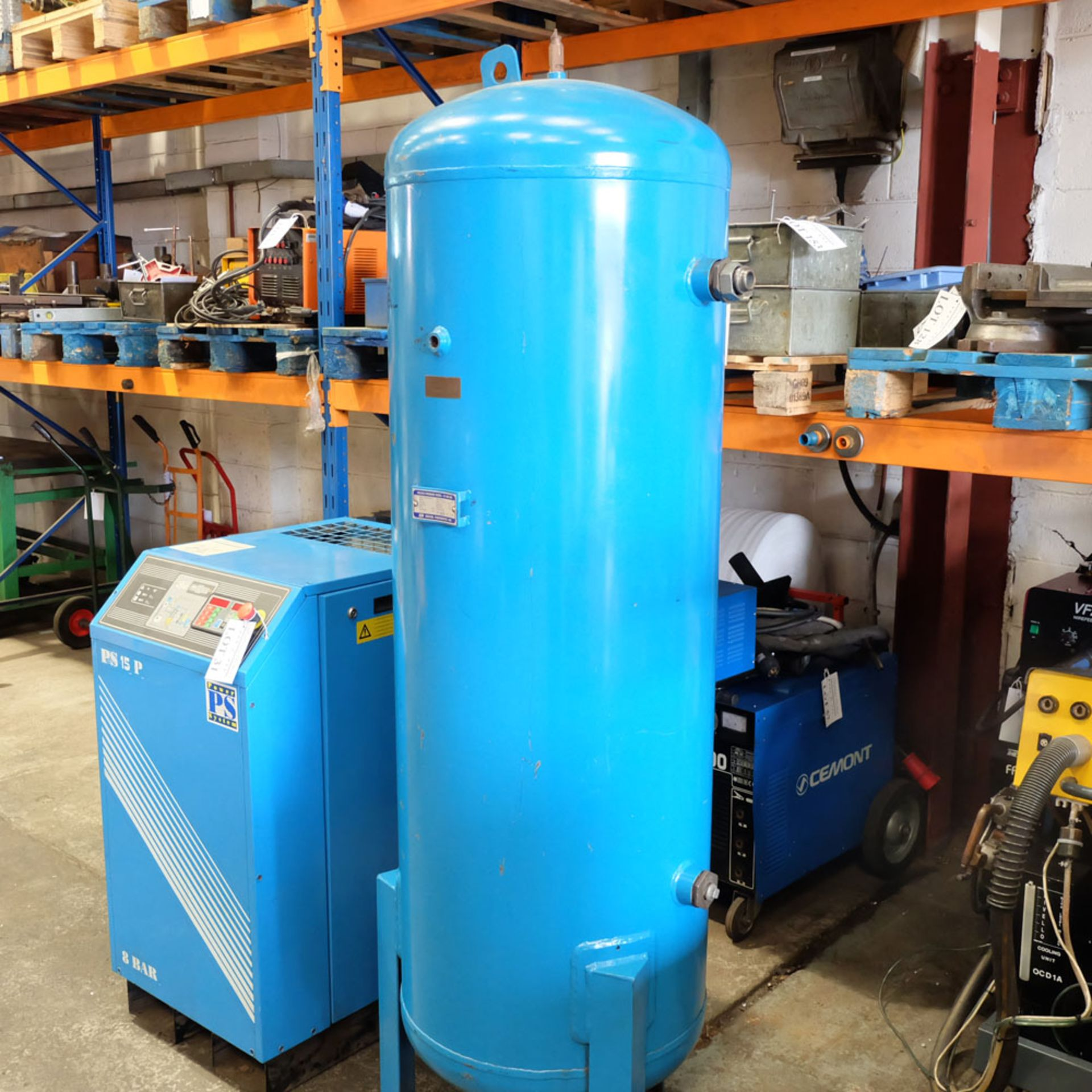 Power Systems PS15P - Rotary Air Compressor with 500L Receiver. Pressure 8 Bar. Capacity 80 cfm. - Image 7 of 8