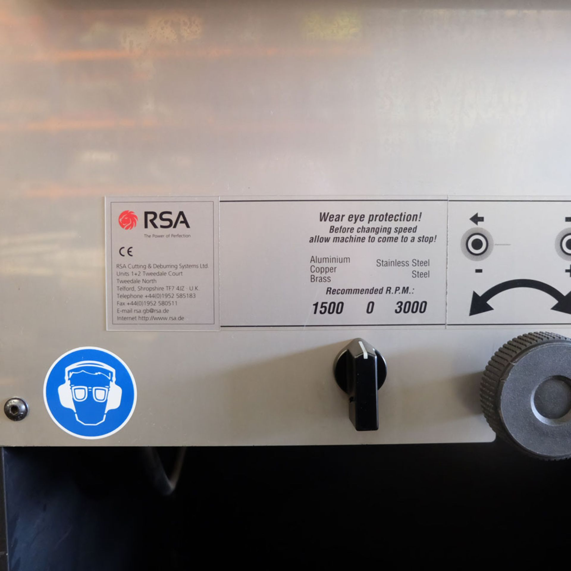 RSA Rasamax Duo. Thickness of Sheet: 5mm Maximum. Two Speed. - Image 5 of 10