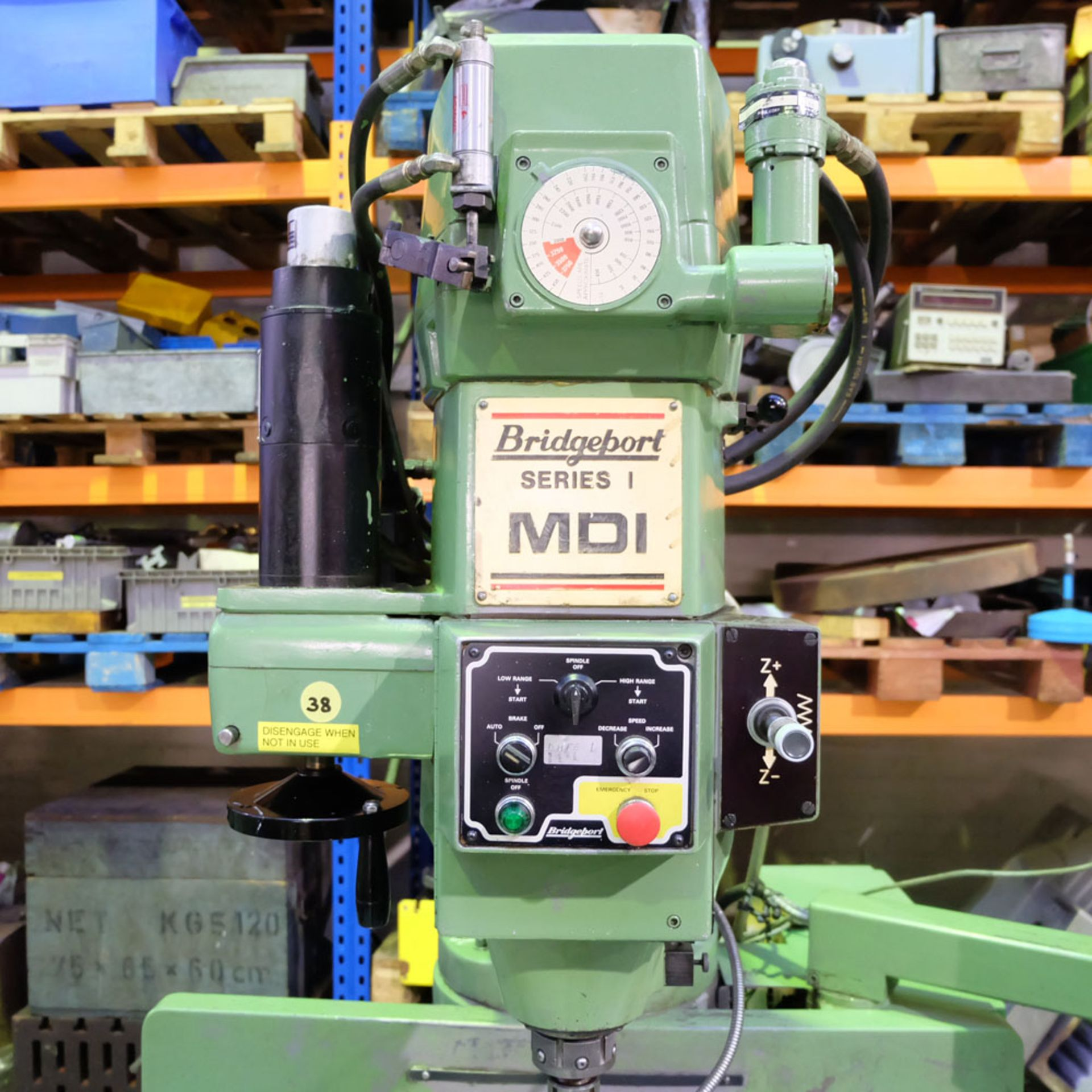 Bridgeport Series 1 MDI. CNC Mill with Heidenhain TNC131 3 Axis Control. - Image 4 of 14