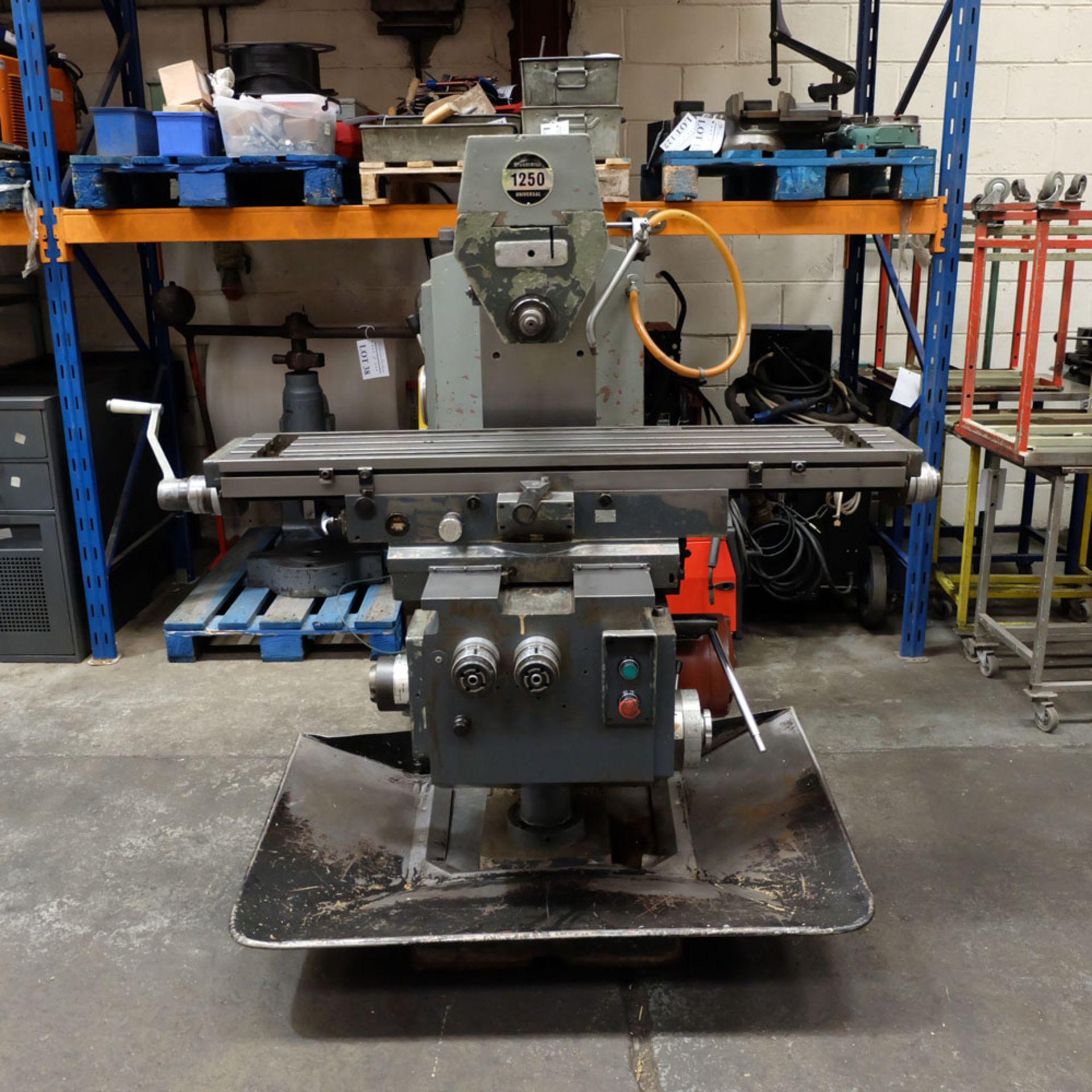 Elliott Horizontal Milling Machine. - Image 3 of 12