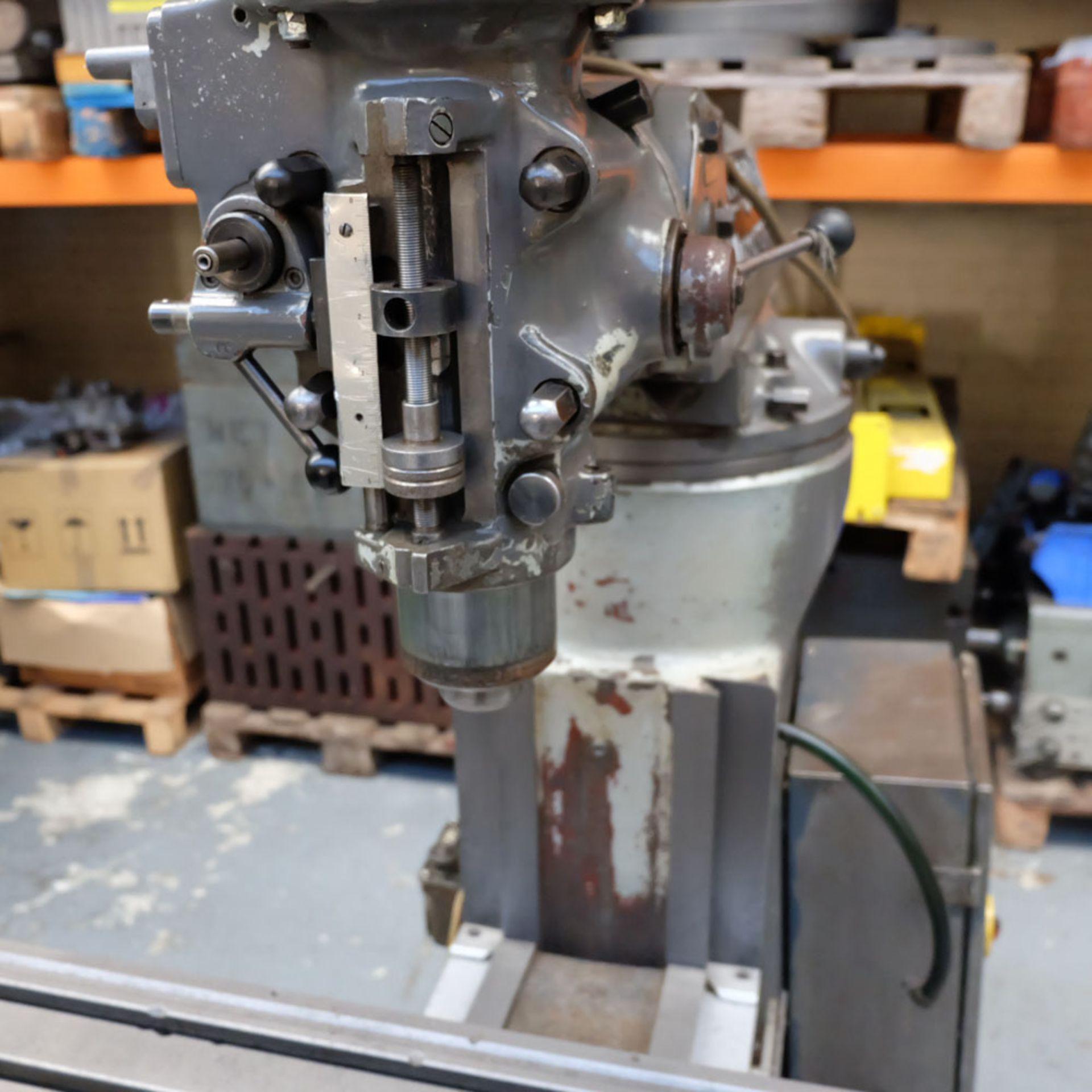 """Bridgeport 2HP Vari-Speed Head Turret Mill. Table Size 42"""" x 9"""". Spindle Taper R8. - Image 6 of 13"""