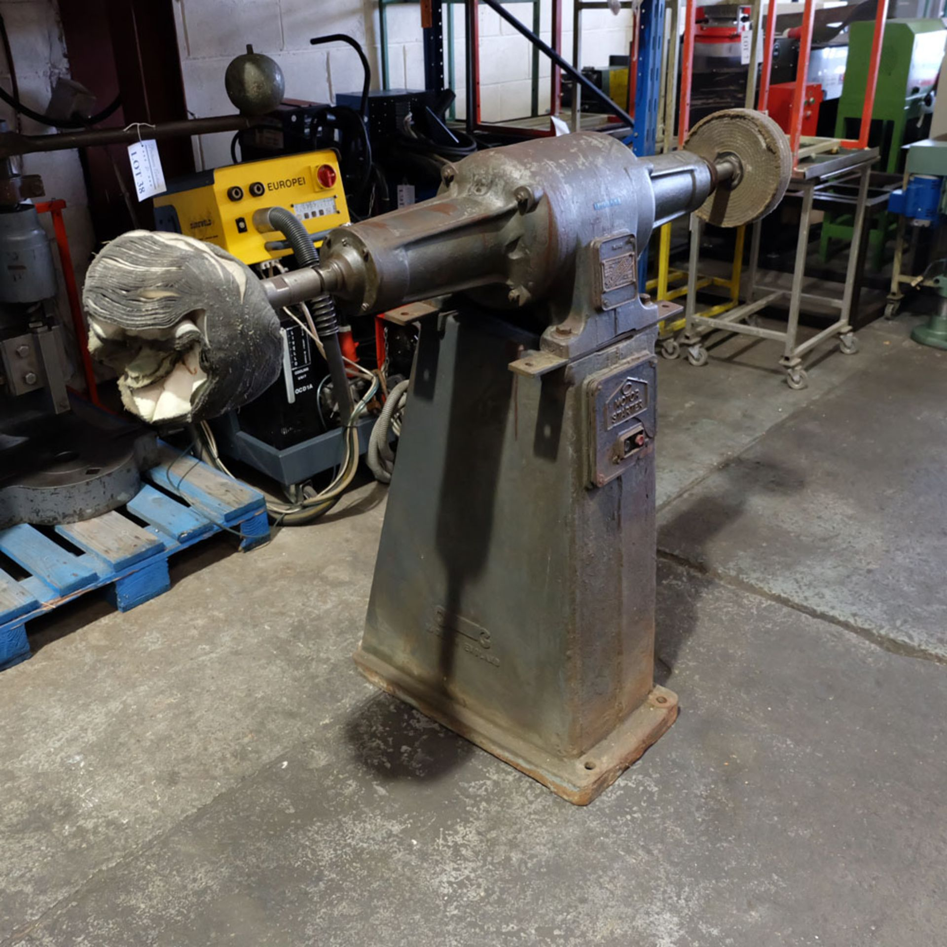 Canning Type 16/12 Double Ended Pedestal Polishing Machine. 2870rpm. - Image 2 of 6