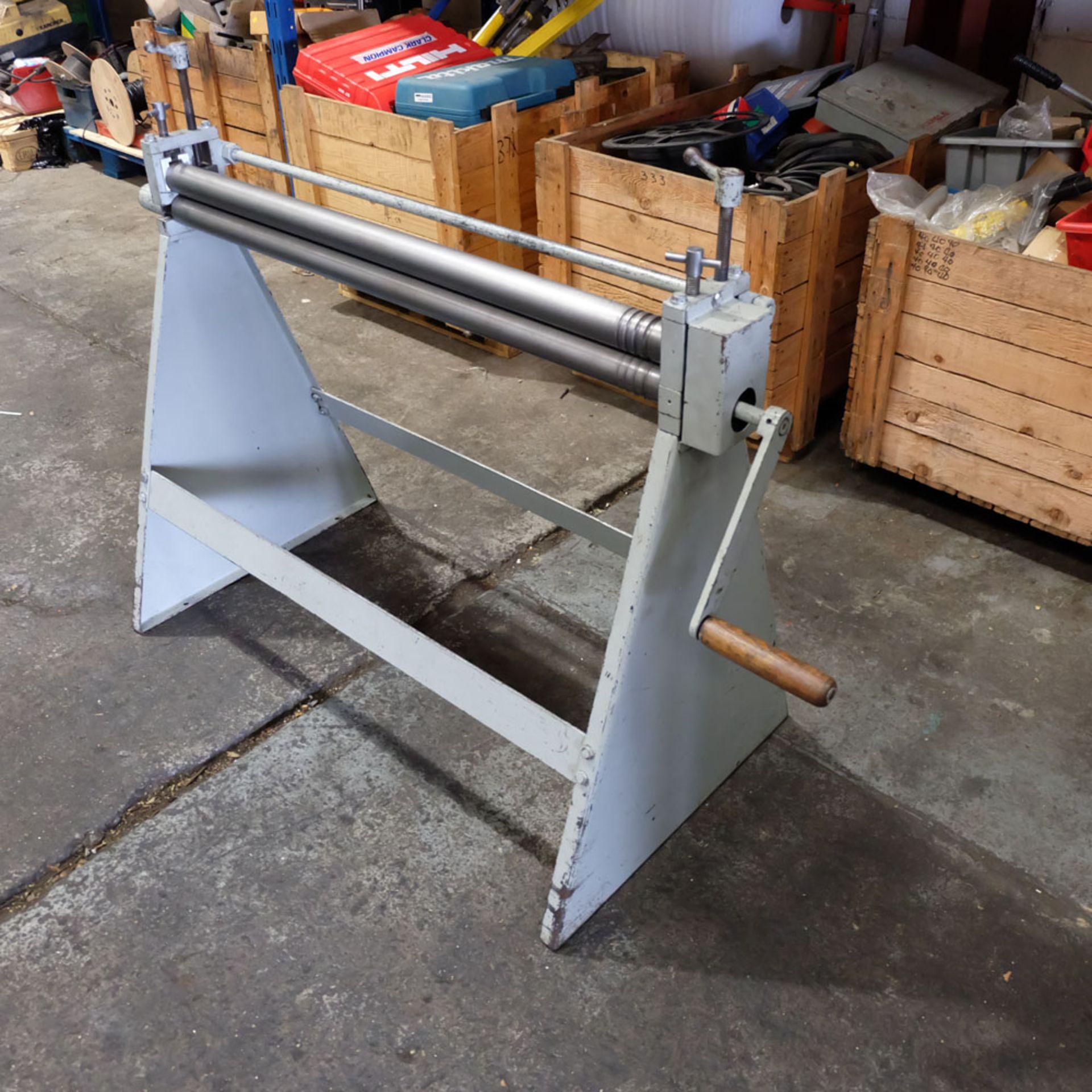 Morgan Rushworth Manual Pyramid Rolls. Capacity 1.22mm x 1025mm. - Image 4 of 6