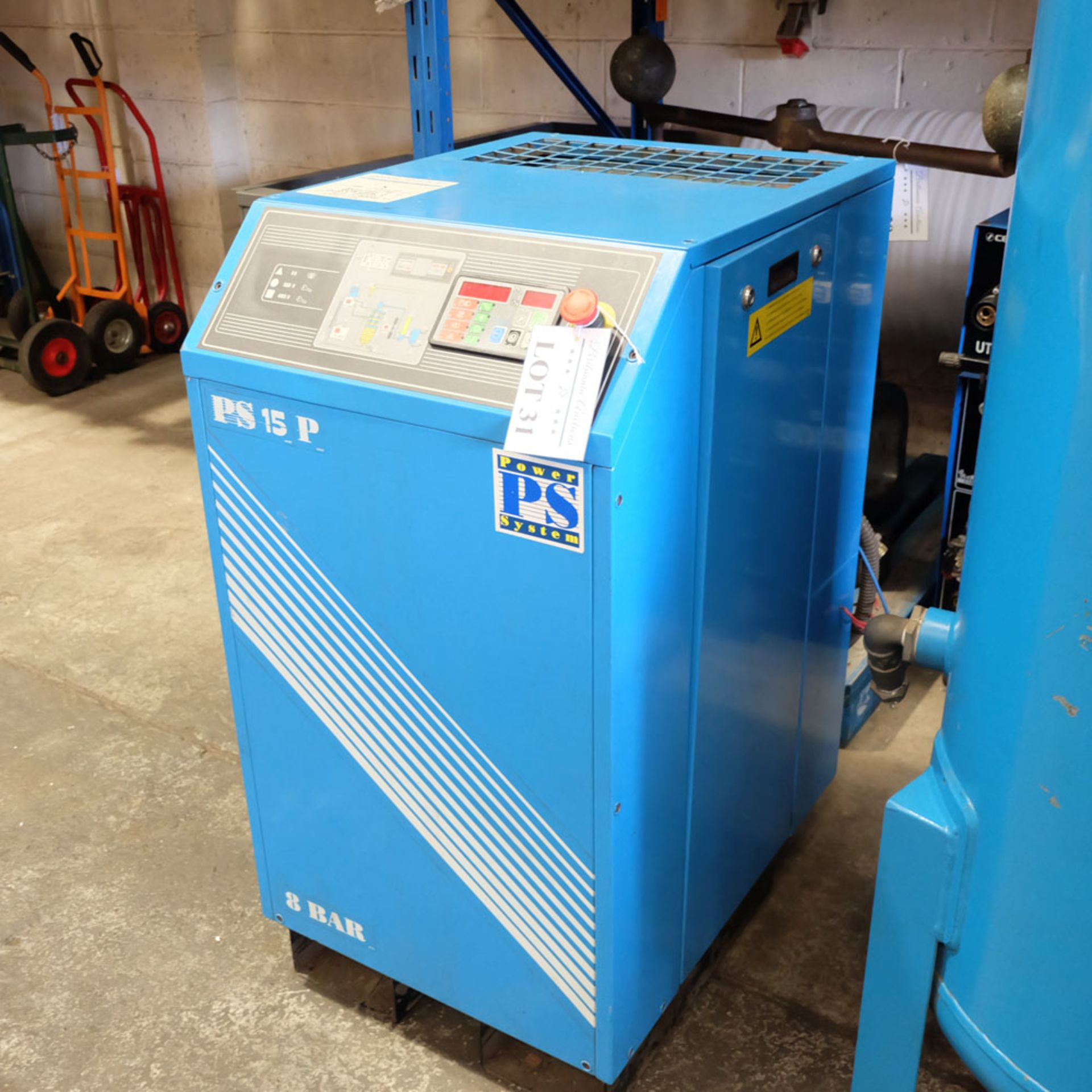 Power Systems PS15P - Rotary Air Compressor with 500L Receiver. Pressure 8 Bar. Capacity 80 cfm. - Image 3 of 8