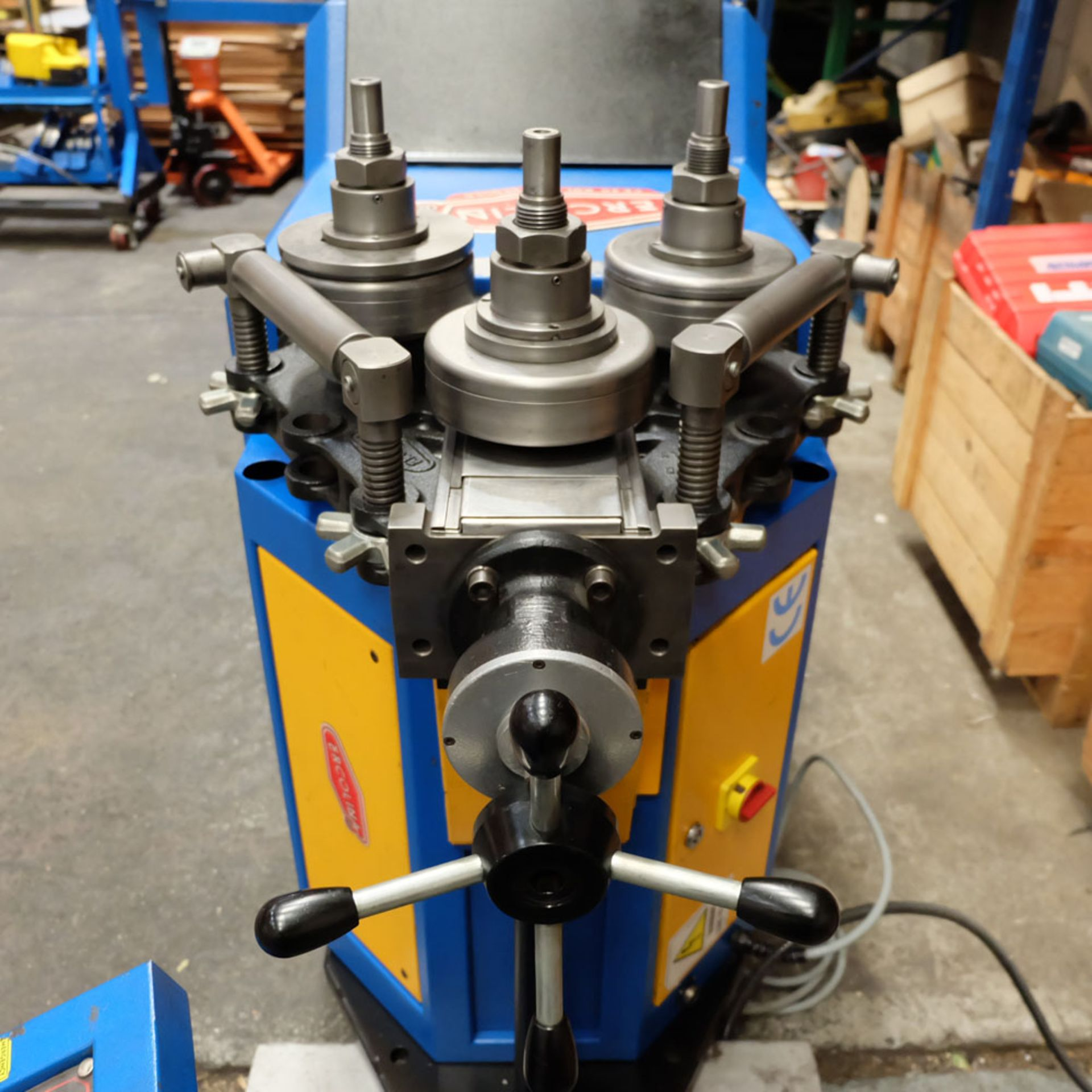 Ercolina CE40MR3 - Ring rollers. Horizontal/Vertical. Roll Shaft Diameter 40mm. - Image 3 of 14