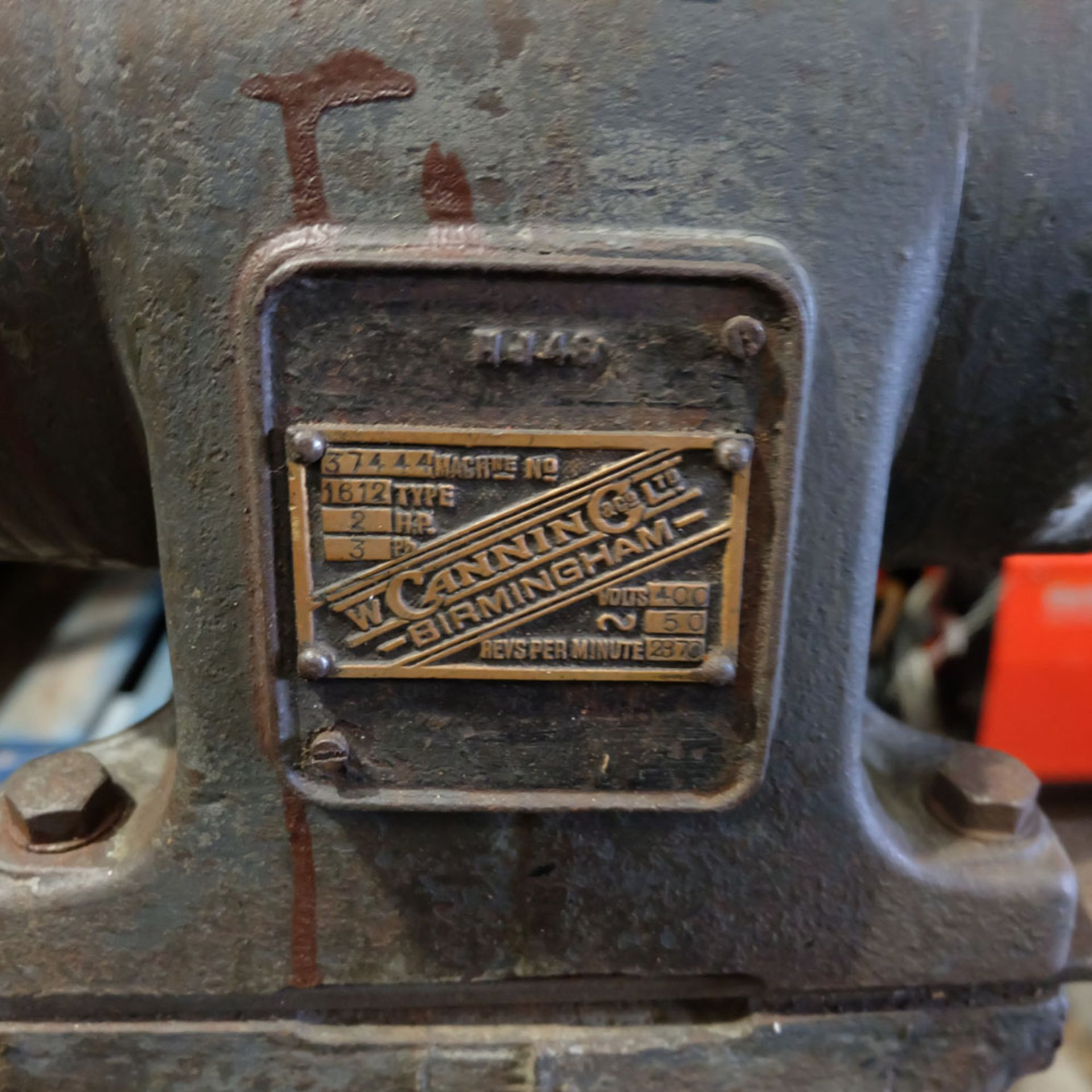 Canning Type 16/12 Double Ended Pedestal Polishing Machine. 2870rpm. - Image 4 of 6
