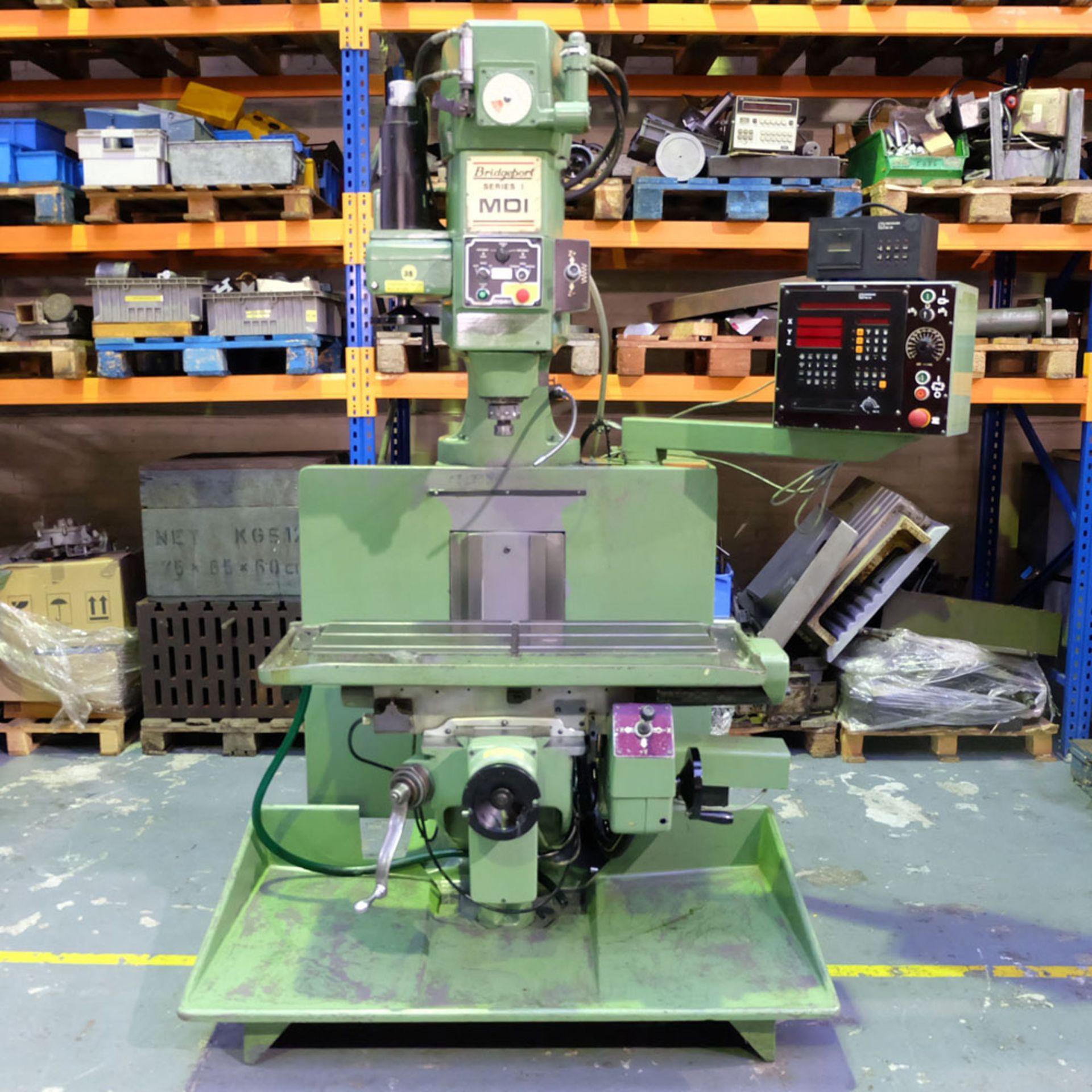 Bridgeport Series 1 MDI. CNC Mill with Heidenhain TNC131 3 Axis Control. - Image 3 of 14