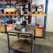 """Norton No.4DB Fly Press. 10"""" Throat. Daylight 6 3/4"""". Fitted to Steel Stand."""