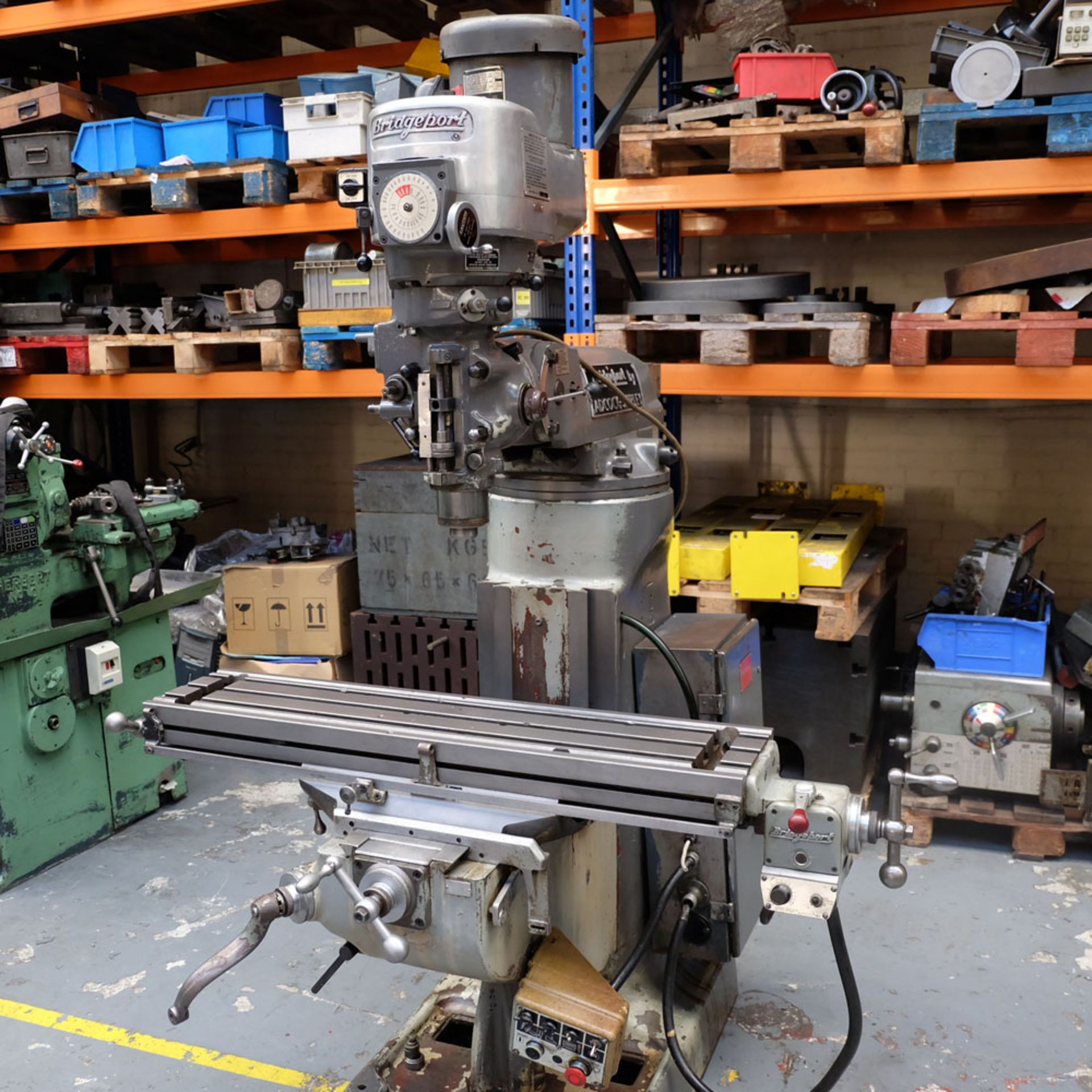 """Bridgeport 2HP Vari-Speed Head Turret Mill. Table Size 42"""" x 9"""". Spindle Taper R8. - Image 3 of 13"""