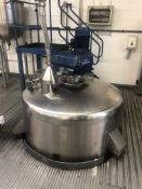 Bibby's 2500 Litre jacketed mixing vessel with Lig