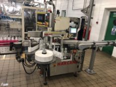 Harland twin head front and back labeler Model Sir