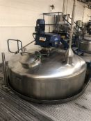 Bibby's 10,000 Litre jacketed mixing vessel with L