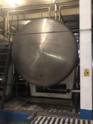 18,000 Litre 316 Stainless steel horizontal tank