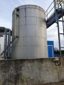 Plastic 40 tonne vertical cylindrical tank