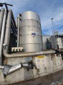 Plastic steel 25 tonne vertical cylindrical tank