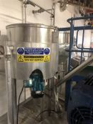 Bibby's 300 Litre jacketed pre-mix vessel with bot
