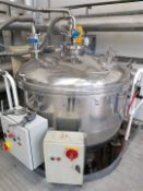 Guisti 150 Gallon jacketed mixing vessel with scra