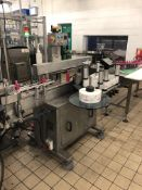 Premier 400 single sided wrap labeler with top hol