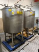 2 x Stainless steel enclosed tanks circa 800 Litre