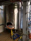 12,700 Litre stainless steel single skin tank with