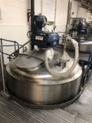 Websters 5000 Litre jacketed mixing vessel with Li