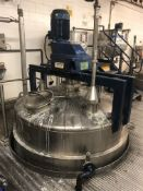 BCH 5000 Litre jacketed mixing vessel with lightni