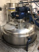 Websters 10,000 Litre jacketed mixing vessel with