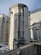 Plastic 32 tonne vertical cylindrical tank