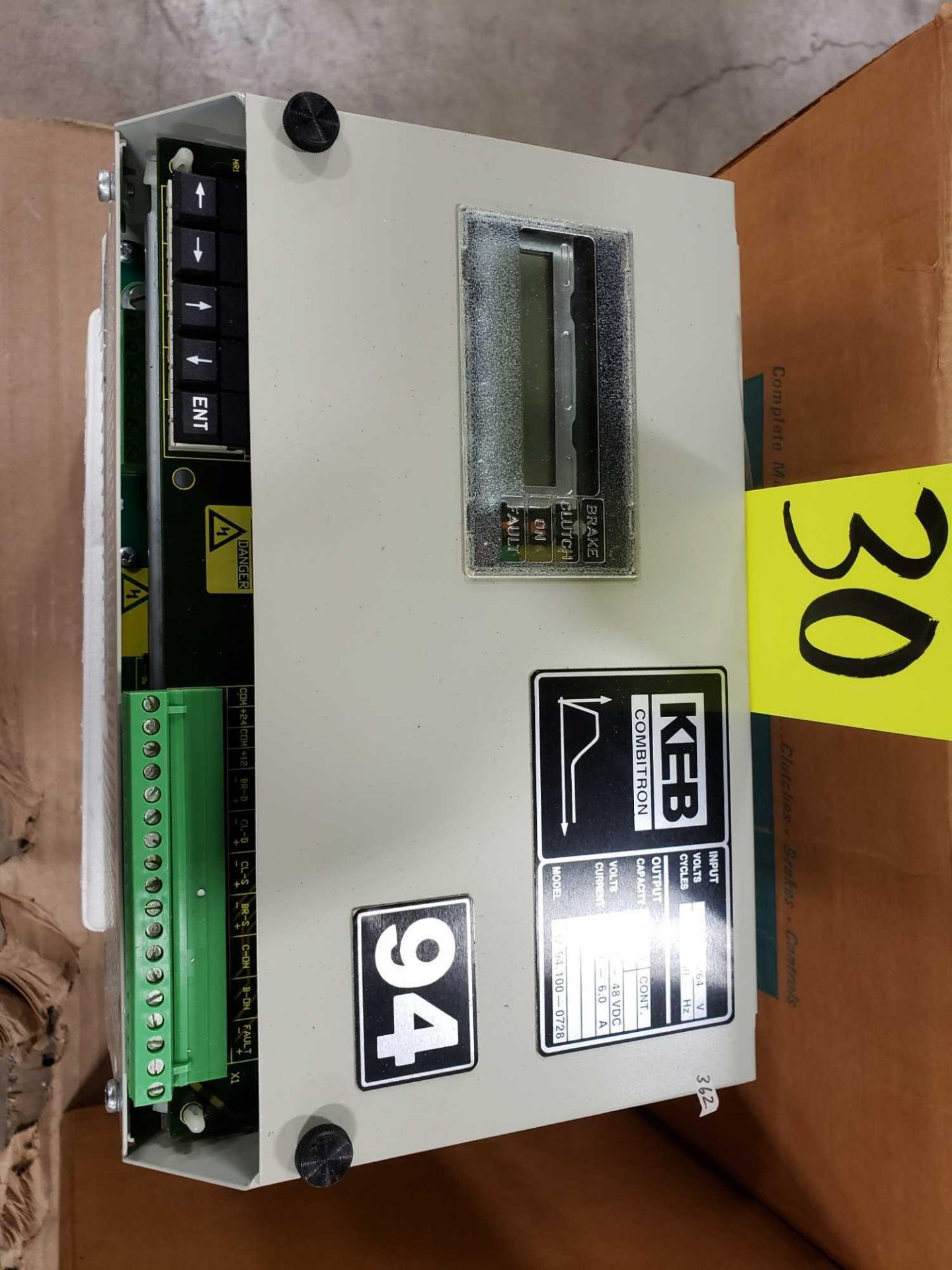 Lot 30 - KEB Combitron drive model 32.94.100-0728, 90-264v input, 12-48vdc volt output. New as pictured.