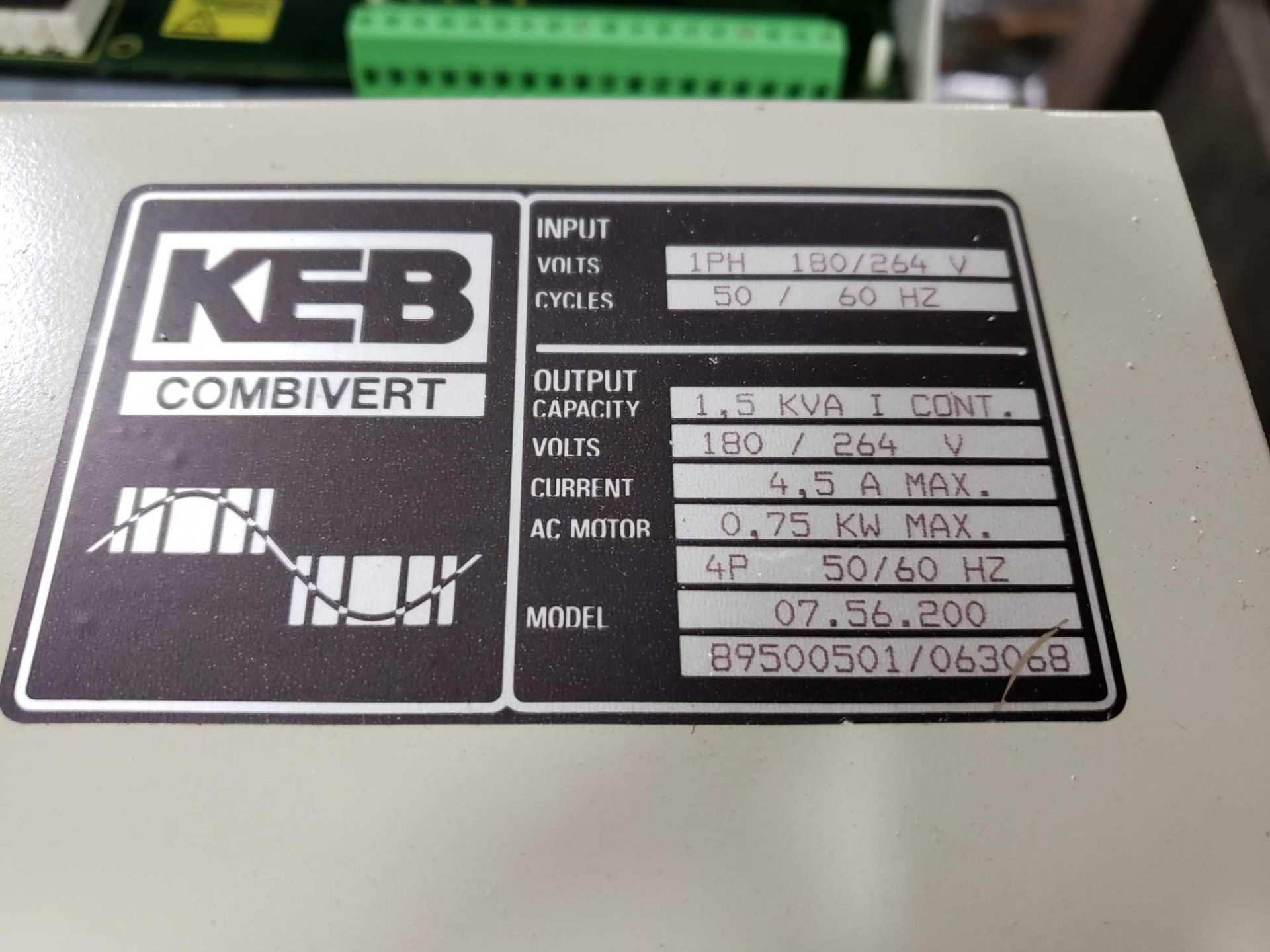 Lot 4 - KEB Combivert drive. 180-264v input, 180-264v AC output. New in box.