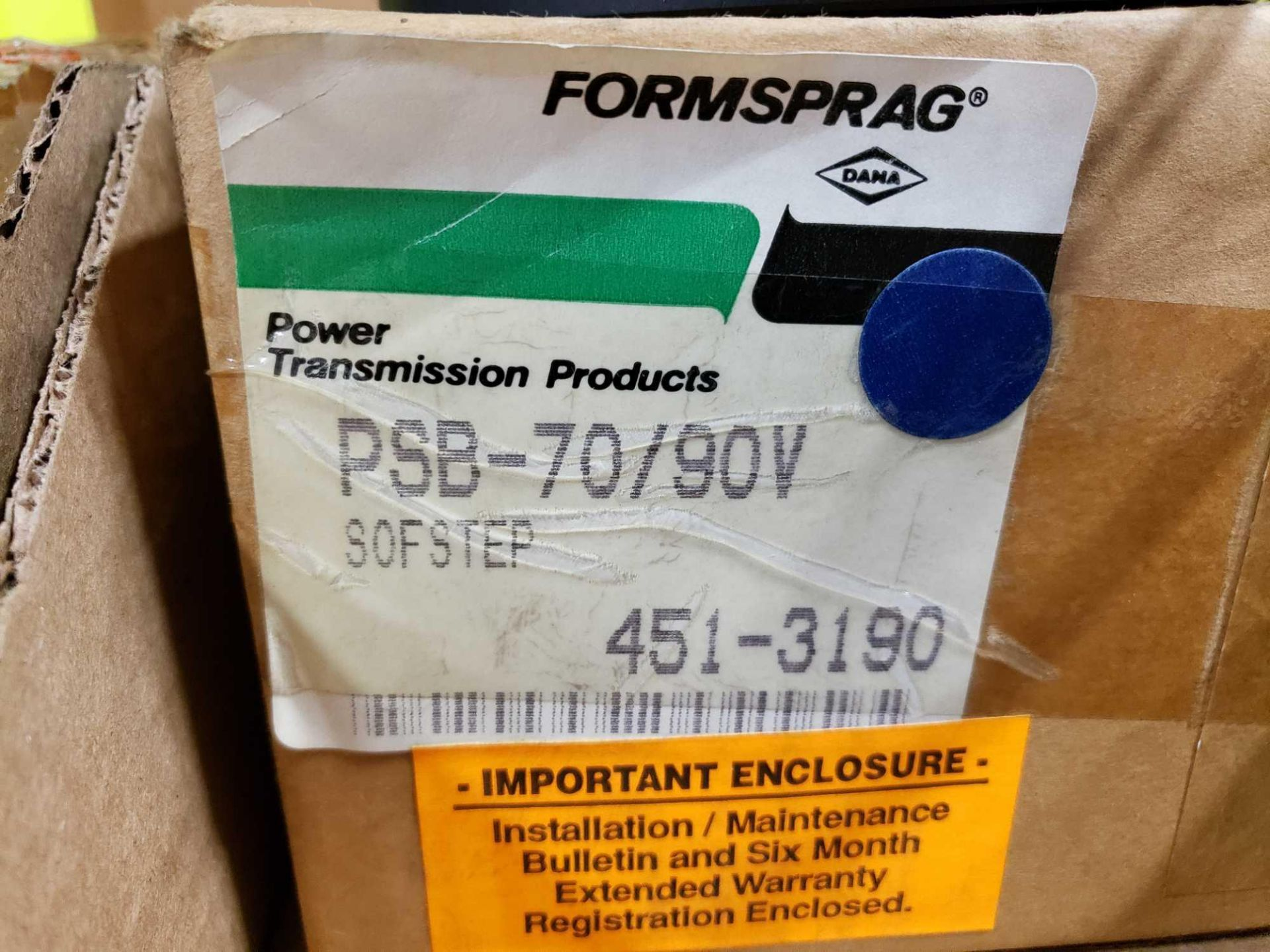 Lot 13 - Formsprag Magpowr sofstep model PSB-70/90V magnetic partical clutch brake. New in box.